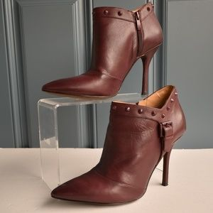 * Dk Red Enzo Angiolini Presly Heeled Booties